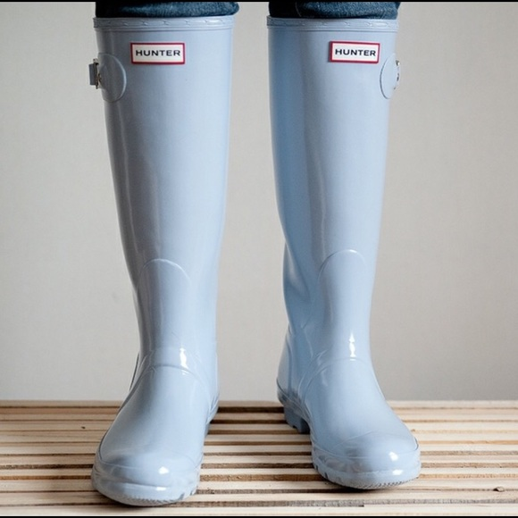 For Blittle Hunter Boots Baby Blue Size