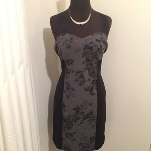 Black and gray Rampage dress