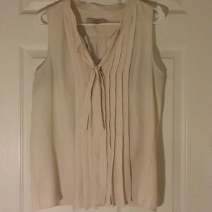 White sleeveless blouse from LOFT