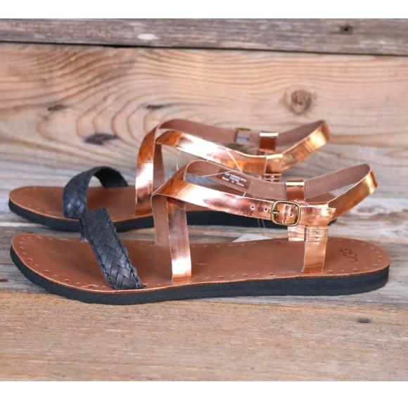 cffc8ab9961 UGG Jordyne Rose Gold Metallic Sandals US 10 NIB NWT