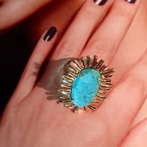 Kendra Scott Cocktail Ring/Turquoise. Price Firm.
