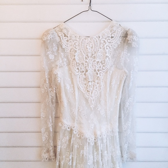 Jessica mcclintock dresses vintage lace wedding dress poshmark jessica mcclintock vintage lace wedding dress junglespirit Image collections