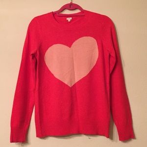 J. Crew Sweaters - J.Crew Red Heart Sweater Size S