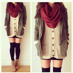 Sweaters - Button up cardigan