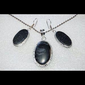 handmade& handcrafted gemstone jewelry Jewelry - Picasso Handmade Pendant & Earrings Set
