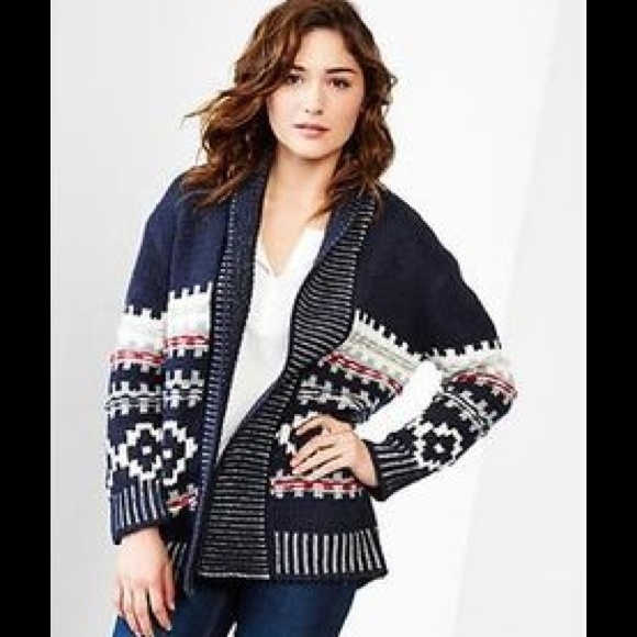 55% off GAP Sweaters - Gap Maternity Fair Isle Cardigan from ...