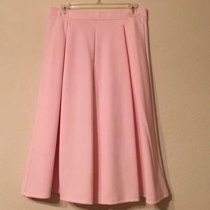 Dorothy Perkins Skirts - Light Pink Midi Skirt Size 8
