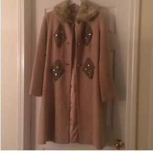 Tracy Reese embellished coat 4 Anthropologie