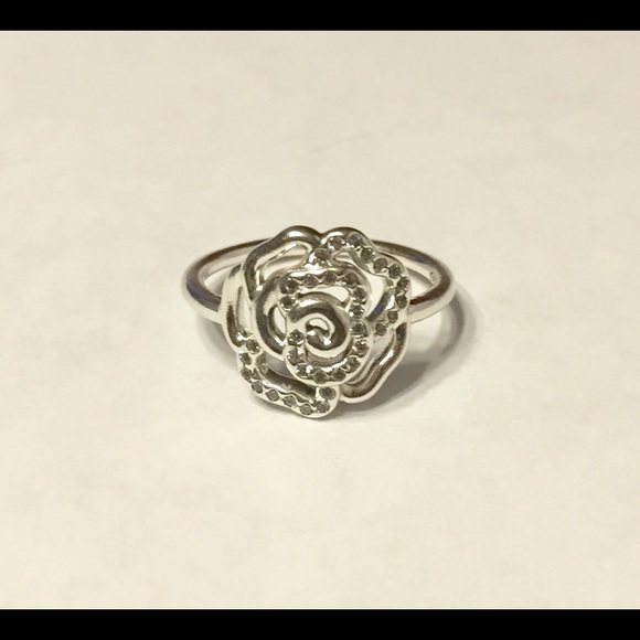 2188486a8 Pandora Jewelry | Shimmering Delicate Rose Ring | Poshmark