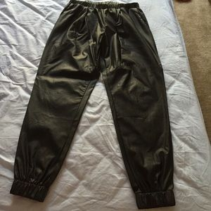 Leather Jogger Pants.