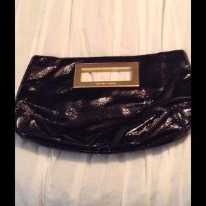 Michael Kors  Black Patent Leather Clutch Bag