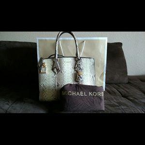fbf82ca7716a Michael Kors Bags - Michael Kors Python Casey Lg Satchel