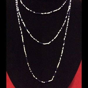 Jewelry - Simplicity, navy and white beaded necklace