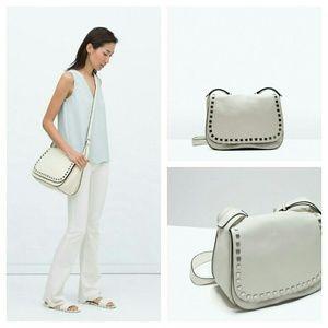Zara leather messenger bag (4393)