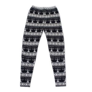 SWEGGINGS CHANUKAH SWEATER LEGGINGS (NAVY) M