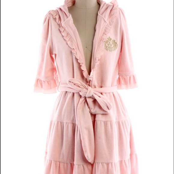 45170551f2 Juicy Couture Other - Juicy Couture Pink Ruffle Terry Cloth Robe 🛀
