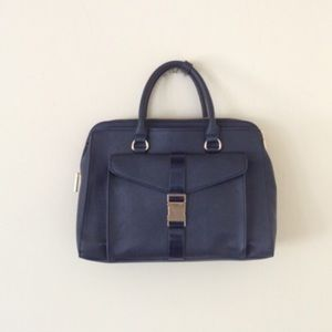 Zara basic blue bag
