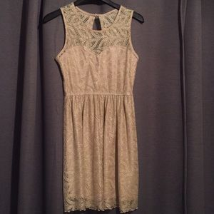 Gold lace shimmer party dress!