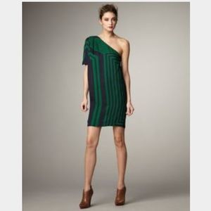 STELLA MCCARTNEY one shoulder silk mini dress