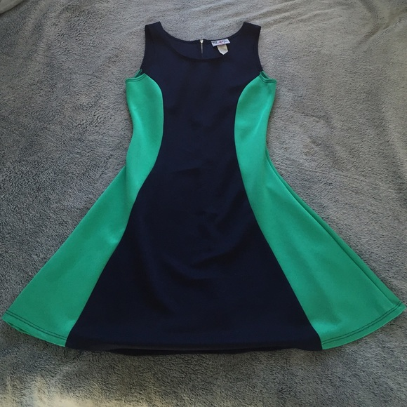 Urban Rose Dresses Clearance Navy Blue And Mint Green Curvy Dress