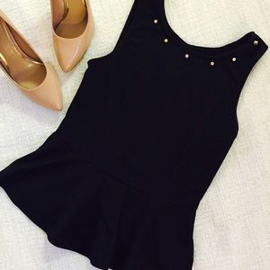 Zinga Tops - black peplum top