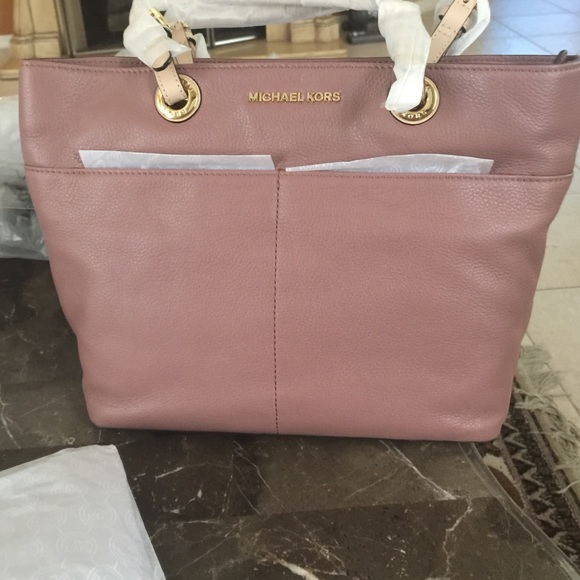 7fa4db91845d Michael kor dusty rose Bedford tote