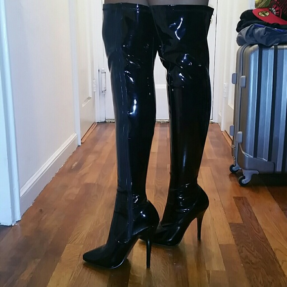 51% off Pleaser Shoes - Women&39s size 12 Patent Leather thigh high