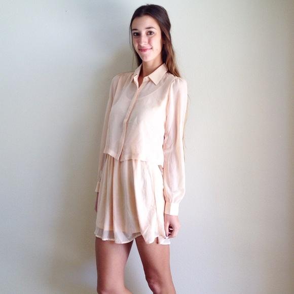31 off dresses skirts new light peach shirt dress