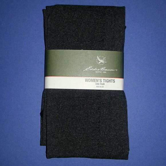 3441b4a90ffb1 Eddie Bauer Accessories | Charcoal Grey Heather Tights | Poshmark