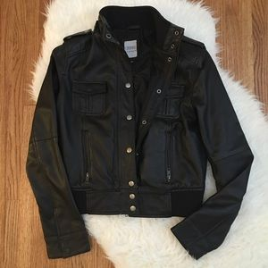 LF Carmar Real Authentic Leather Moto Zip Jacket