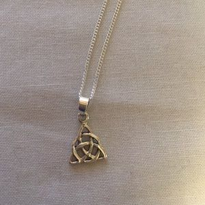 """Jewelry - Sterling silver Celtic knot with 16"""" chain"""