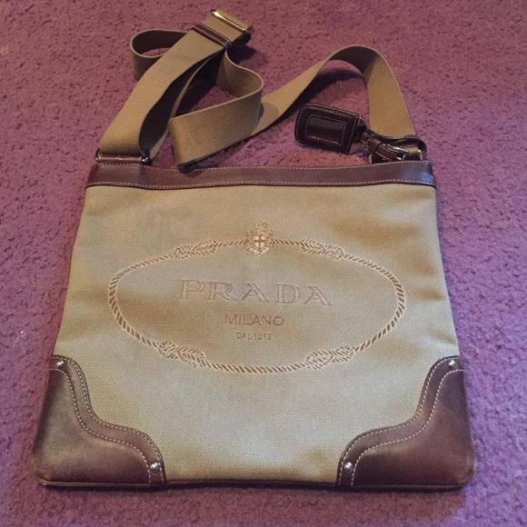 5a5f0fe25009a0 Prada Bags | Final Authentic Logo Jacquard Messenger | Poshmark