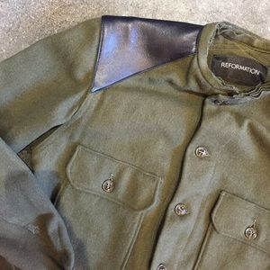 Reformation Jackets & Blazers - [Reformation]military jacket