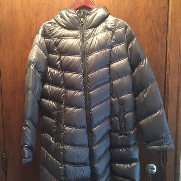 d6e7f5ae984 Calvin Klein Jackets & Blazers - Silver/Grey Calvin Klein packable down  jacket.