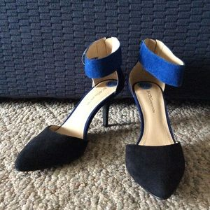 BCBGENERATION Colorblock Ankle Strap Heels