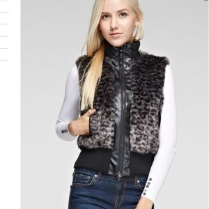 Jackets & Blazers - Black with gray faux fur vest. Various . 5x HP 🎉