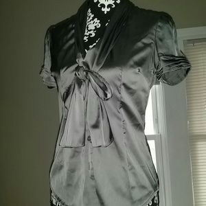 New York and Company button down silky blouse