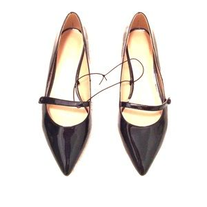 Joe Fresh black patent leather Mary Jane flats
