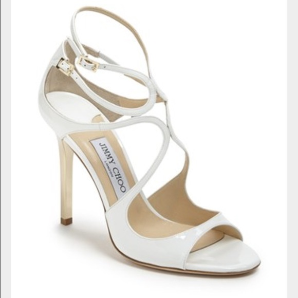 a6862f25d04 Jimmy choo Lance white and gold heels