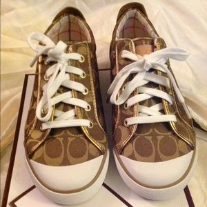 Brand new in box Coach Signature shoes size 9.5