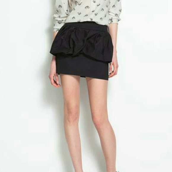 73% off Zara Dresses & Skirts - Zara Peplum Bubble Mini Skirt ...