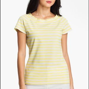Lafayette 148 New York Tops - 🎄Lafayette 148 NY Yellow Distressed Pique Tee🎄