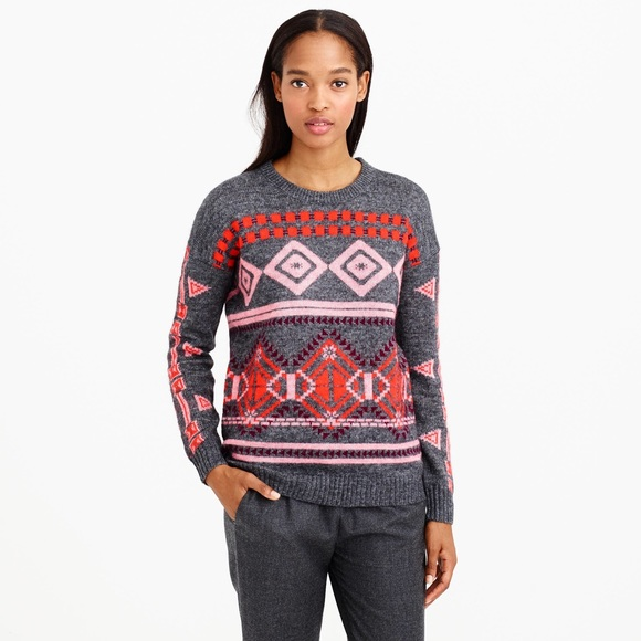 81% off J. Crew Sweaters - J Crew Abstract Fair Isle Sweater from ...