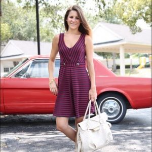 Dresses & Skirts - Red and blue striped dress