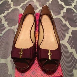 720e4658bef8 Tory Burch Shoes - Tory Burch Trudy Open Toe Wedge 15mm