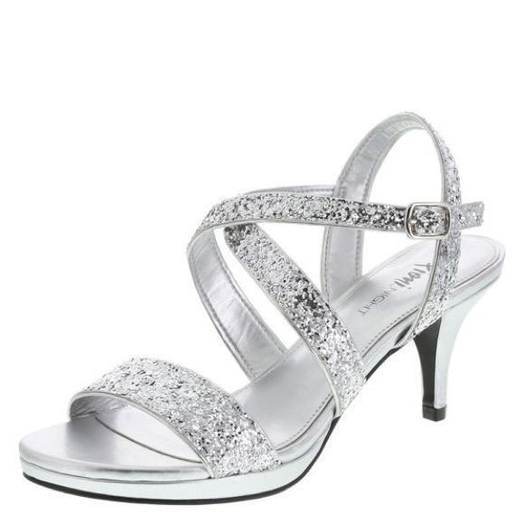 63% off FIONI Clothing Shoes - FIONI Night Laney silver glitter