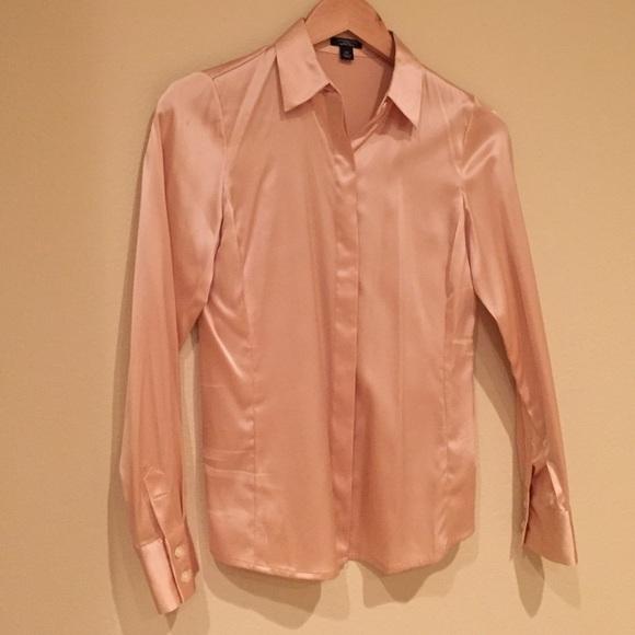 26da93c7d531dd Ann Taylor Tops - Ann Taylor silk champagne pink button down blouse.