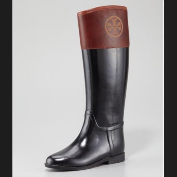 b8a221fb5b5f Tory Burch Winnie Rain Riding Boots. M 564801b3a722655f5e00e5bd