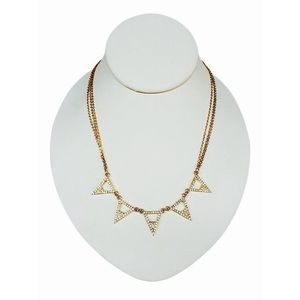 Gold Rhinestone Triangle Necklace