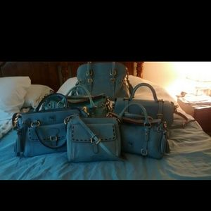 Dooney and Bourke Dusty Blue Florentine Collection